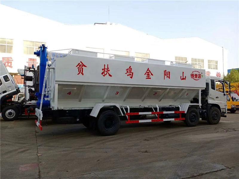 程力东风天锦小三轴30方散装饲料车